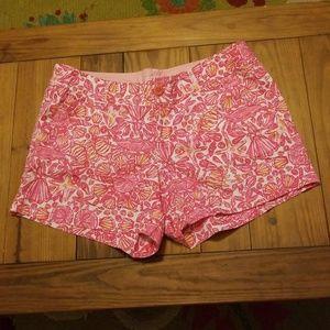 Lilly Pulitzer Shorts Size 12 Pink Shells, Starfis